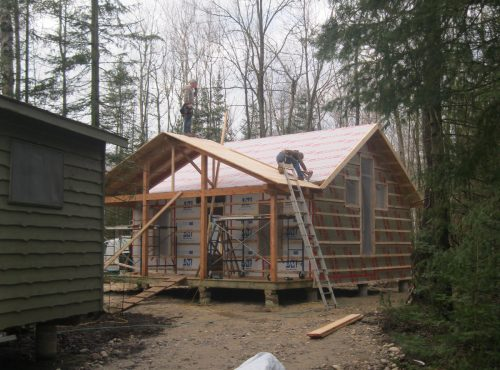 Camper Cabin Update – the porch is on and it really looks great!